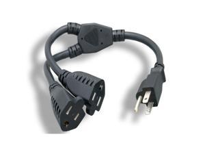 Micro Connectors, Inc. 14-inches AC Y Power Cord (M05-113YUL)