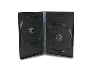 """XtremPro Double Cd DVD Blu-ray Jewel Storage Replacement Case 0.55"""" in 10 Pack - Black (11081)"""