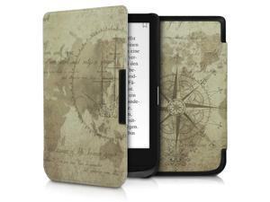 Case Compatible with Pocketbook Touch Lux 4/Basic Lux 2/Touch HD 3 - PU e-Reader Cover - Travel Vintage