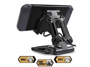 Tablet Stand, Nintendo Switch Stand, SUPCASE Portable Adjustable Desk Aluminum Mount Holder Dock for Cell Phone, iPad Air Pro Mini, Galaxy Tab, Nintendo Switch, E-Reader and More (4-13) - Black
