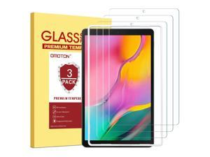 OMOTON [3 Pack Screen Protector for Samsung Galaxy Tab A 10.1 2019 Release SM-T510, Tempered-Glass/Scratch-Resistant/Bubble Free