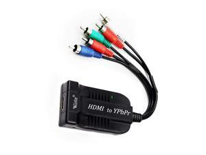 Wiistar HDMI to Ypbpr Converter 1080P HDMI to Component Video Audio Converter 5 RCA Scaler Out Female to Male for STB PS3 PC to Old TV Projector