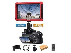 IPS Broadcast Quality for DSLR /& Full Hd Camecorder LILLIPUT 7 664//O//P Slim Camera-top Monitor with Hdmi//in/&Out+AV in W//Peaking Zebra Exposure Filter