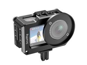 """SMALLRIG Video Vlogging Camera Frame Cage for DJI Osmo Action Camera with 1/4"""" and 3/8"""" Thread Locating Holes Compatible with 52mm Adapter for Lens, Prevent The Screen from Scratching - CVD2360"""