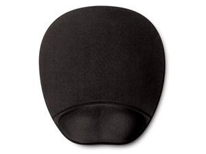 Memory Foam Mouse Pad Mat with Wrist Rest (Black)