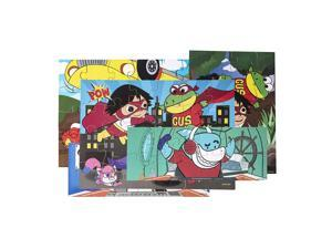 Ryans World - Wooden Super Hero Jigsaw Puzzles (Set of 5) with Wooden Storage Box