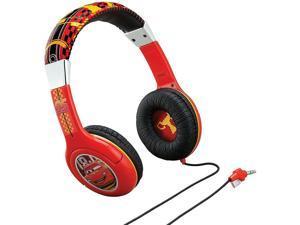 Disney Pixar Cars 2 Street Beat Headphones Over Ear Black/Red NEW! (CR140)
