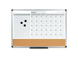 Mastervision 3-in-1 Calendar Planner Dry Erase Board 24 x 18 Aluminum Frame