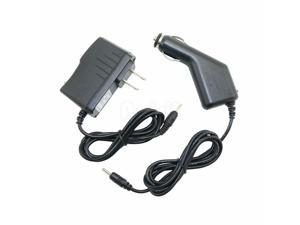 """Car Charger + AC/DC Power Supply Adapter Cord For Proscan PLT9650G 9"""" Tablet PC"""