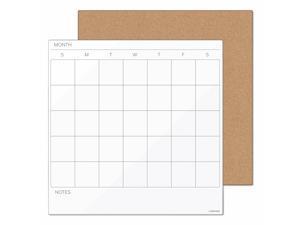 U Brands Tile Board Value Pack w/Undated One Month Calendar 14 x 14 White