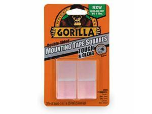 """Gorilla Tough & Clear Double Sided Mounting Tape Squares, 24 1"""" Pre-Cut Squares,"""