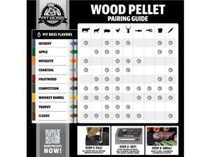 Pit Boss Barbecue Wood Pellets Hickory Blend, 40 lbs