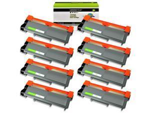 8 Pk TN660 Toner Cartridge For Brother TN630 HL-L2380DW MFC-L2707DW MFC-L2740DW