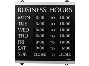 """Headline Sign - Century Series, Business Hours Sign with 176 1/4""""-Characters,..."""
