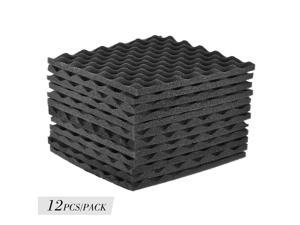 12pcs Soundproofing Foam Sound Absorption Studio Treatment Wall Panel 12×12 Y9V3