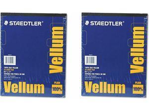 Staedtler Mars Vellum Paper, 16#, Rag, 8.5 x 11 Inches, Plain, 50 Sheets per Pad