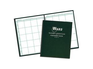 Ward 18 Lesson Plan Book, Wirebound, 8 Class Periods/Day, 11 x 8-1/2, 100 Pages, Green (HUB18)