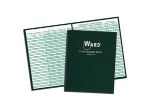Ward 910L Class Record Book, 38 Students, 9-10 Week Grading, 11 x 8-1/2, Green (HUB910L)