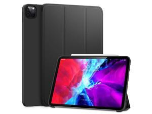 DTTO Case for iPad Pro 11 Inch 2nd/3rd Generation 2021/2020/2018,Ultra Lightweight Smart Trifold Stand with TPU Soft Back Cover [Auto Sleep/Wake], Black