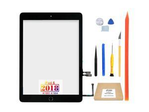 JPUNG Touch Screen Replacement for iPad 6 6th Gen Digitizer 2018, Only for iPad 6th Generation A1893 A1954, with Home Button (No Touch IC), Full Repair Kit