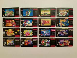 Obor15 N64 Snes and NES Cartridge Replacement Game Label Sticker Precut 1