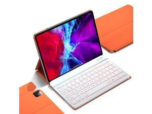 GUDOU 2021 3rd Gen iPad Pro 11inch Keyboard Case 2020/2018(2nd/1st),iPad Air 4th 10.9 Backlit Detachable Keyboard,Ultra Slim Magnetic PU Cover,Auto Sleep/Wake,Support Pencil 2 Charging(Orange)