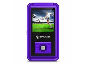 Ematic Em208vid 8 Gb Purple Flash Portable Media Player - Photo Viewer, Video