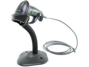 Symbol LS 2208 BarCode Scanner HandHeld RJ45 To USB Black w/Stand LS2208-SR20007R-UR