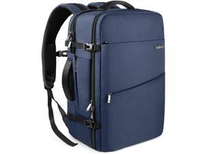 Inateck 40L Travel Carry-On Luggage Backpack, Flight Approved Anti-Theft Laptop Rucksack Large Daypack Weekender Bag for 17'' Laptop - Blue