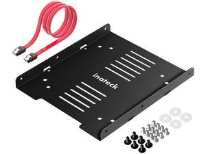 Inateck SSD Mounting Bracket 2.5 to 3.5 Adapter with SATA Data Cable, SA04006