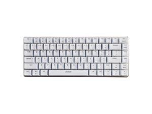 AJAZZ Mechanical Keyboard Portable 82 Keys Blue Switches-White-No Light