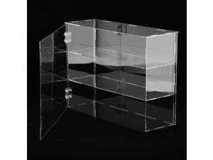 2x Transparent Acrylic Display Case Models Toys Desk Dustproof Box Container