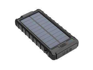 Waterproof USB Portable Solar Charger Solar Power Bank For Phones Back