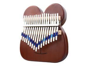 17 Key Kalimba Thumb Piano Finger Wood Musical Instrument Brown Rat