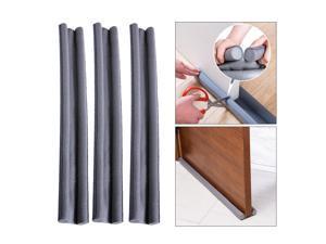 3pcs Self Adhesive Foam Draught Excluder Window Door Seal Strip Soundproof