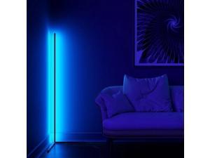 Floor Lamp Modern RGB LED Corner Lamp Standing Pole Light Remote Control UK