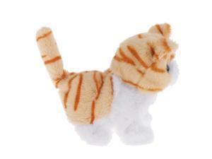 Interactive Robot Cat Electronic Toys Walking Miaow Garfield