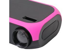 Projector For Smart Phone Projector With HDMI USB AV Home Theater Rose
