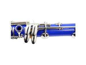 LADE 17 Keys Bb Clarinet Musical Instrument Parts for Music Lovers Dark Blue