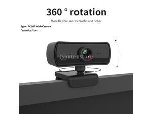 2 Piece Digital 1440P HD Webcam Auto Focusing 4.0M Pixels 4K USB Camera