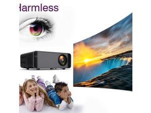 Home Pocket Movie Projector 4k HD1080P Full LCD Display US Same-screen Black