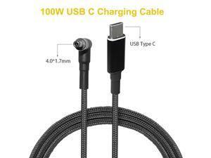 100W USB C Cable USB Type C Charging Cable Cord DC Power Adapter Connector for Lenovo IdeaPad 310 110 100 Air 13 Pro Yoga 710 (1.8m)