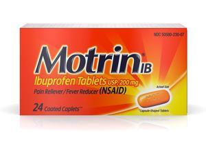 Motrin IB, Ibuprofen Tablets for Fever, Muscle Aches, Headache and Back Pain Relief, 200 Milligram, 24 Count