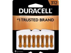 DURACELL Hearing Aid Easy Tab 312 Zinc Air Battery, 8-pack