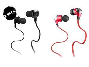 2-Pack Monster Clarity Earbud High Performance Headphones Bundle