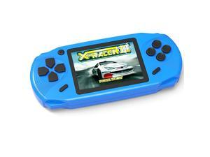 Kids Handheld Game Console Portable Retro Game Player Built in 16 Bit 100 HD Classic Electronic Video Games 30 Large Screen USB Rechargeable Handheld Game for Toddlers Children Blue 1