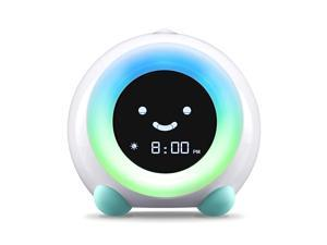 Mella Ready to Rise Childrens Trainer Alarm Clock Night Light Sleep Sounds Machine Arctic Blue
