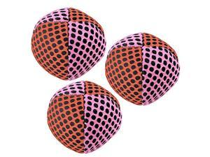 Xballs Juggling Balls Professional Set of 3 Fresh Design 10 Beautiful Colors Available 2 Layers of Net Carry Case Choice of The World Champions Pink Orange 120g