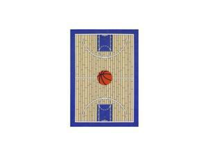 695 Blue 3x5 Basketball Court Kids Area Rug 33quotx5
