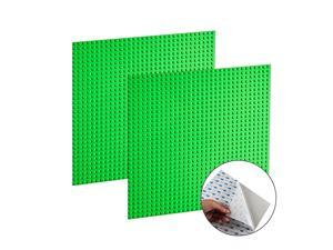 2 PCS Self Adhesive Classic Building Brick Plate 10 x 10 Compatible with Building Brickyard Blocks All Major Brands Green